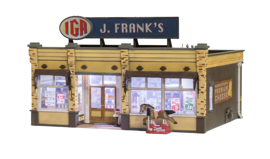 Woodland Scenics - BR J. Frank's Grocery - O Scale (BR5851) - the-pennsy-station-llc