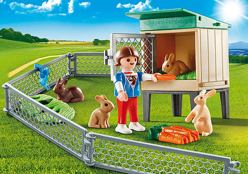Playmobil - Country - Bunny Barn Carry Case (9104)