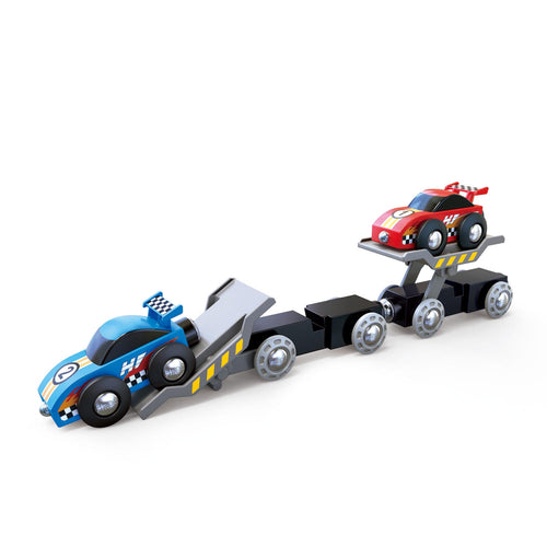 Hape - Race Car Transporter Train (E3735)