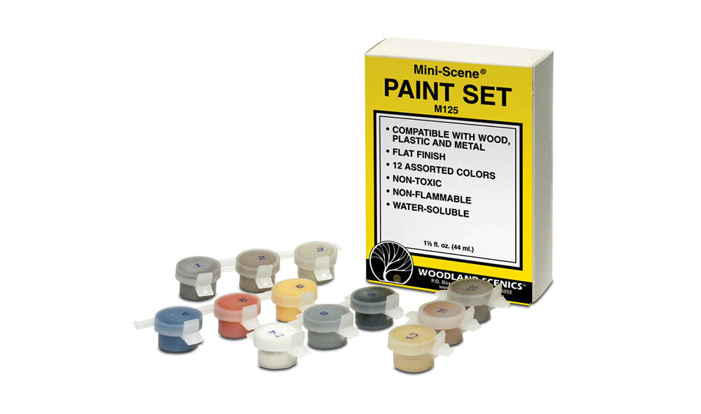 Woodland Scenics - Mini-Scene Paint Set (M125) - the-pennsy-station-llc
