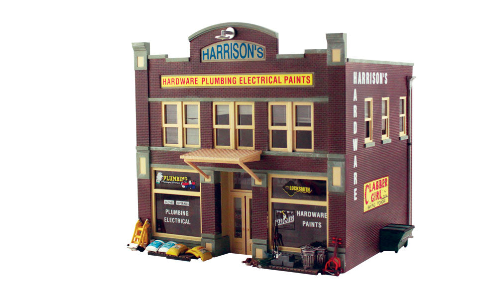 Woodland Scenics - Harrison's Hardware Building Kit - O Scale (PF5891) - the-pennsy-station-llc