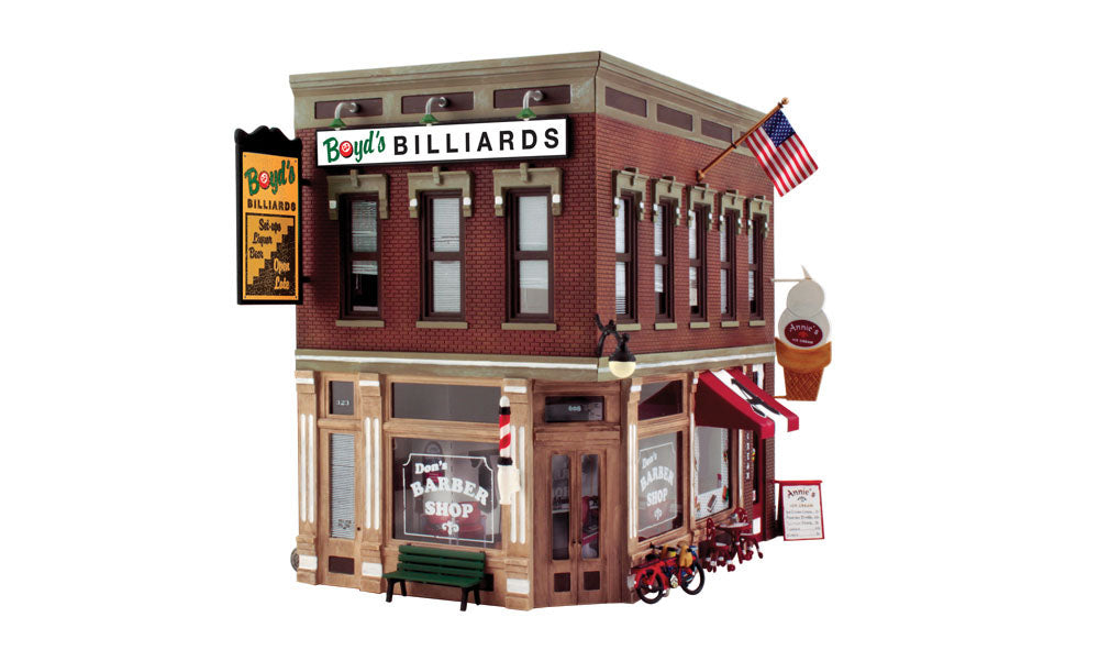 Woodland Scenics - Corner Emporium Building Kit - O Scale (PF5893) - the-pennsy-station-llc