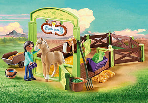 Playmobil - Spirit Riding Free - Pru & Chica Linda with Horse Stall (9479)