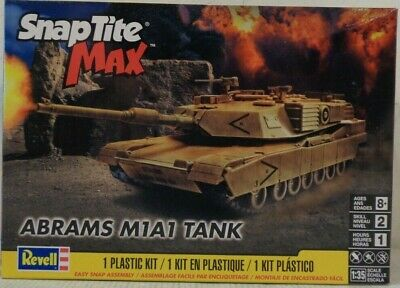 Revell - Abrams M1a1 Tank SnapTite Max - Plastic Model Kit (851230) - the-pennsy-station-llc
