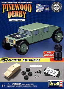 Revell - Pinewood Derby - Military Racer Series (RMXY9637) - the-pennsy-station-llc