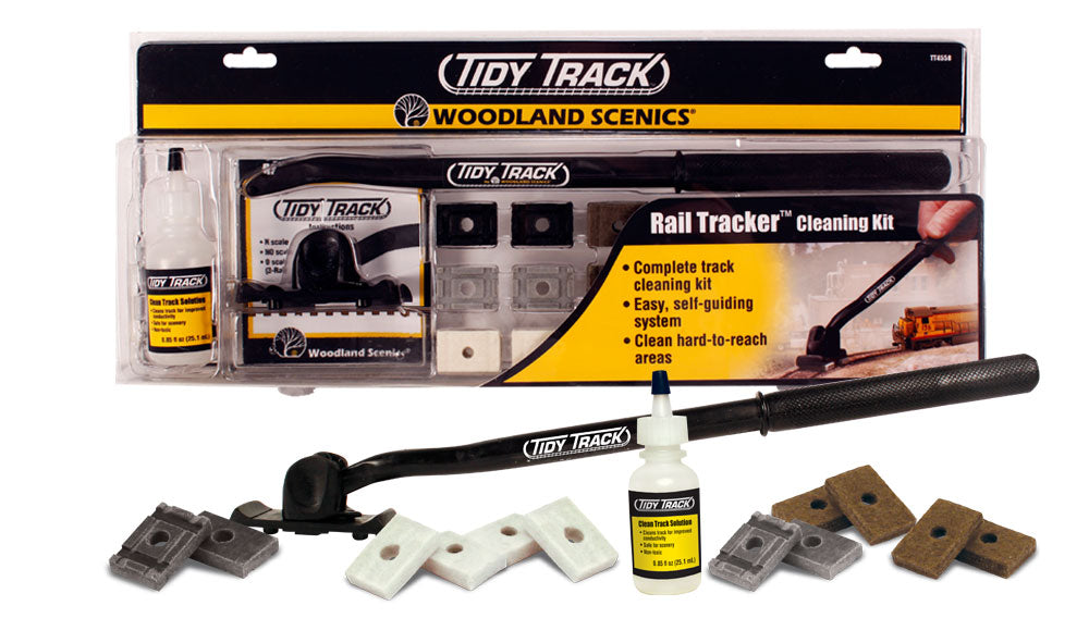 Woodland Scenics - Rail Tracker Cleaning Kit (TT4550) - the-pennsy-station-llc