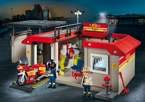 Playmobil - City Action - Take Along Fire Station (5663)