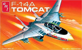 AMT - Grumman F-14A Tomcat Fighter - Plastic Model Kit (802) - the-pennsy-station-llc