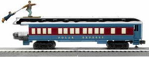 Lionel - The Polar Express - Skiiing Hobo Car - White Roof - O Scale (6-85400)