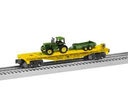 Lionel - John Deere Flatcar w/ Tractor Load - O Scale (6-85321) - the-pennsy-station-llc