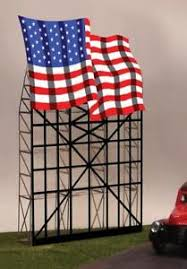 Miller Engineering - Animated Billboards - American Flag - Small (9482) - the-pennsy-station-llc