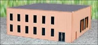 Promtex Inc - Modern Office Building Kit - HO Scale (6324) - the-pennsy-station-llc
