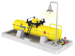 Lionel A/F - Sunoco Oil Storage Tank w/ Light - S Scale (6-49860) - the-pennsy-station-llc