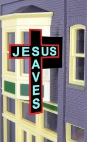 Miller Engineering - Animated Billboards - Jesus Saves Cross Lg. (9071) - the-pennsy-station-llc