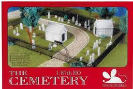 Mouse Models - The Cemetery - HO Scale (001) - the-pennsy-station-llc