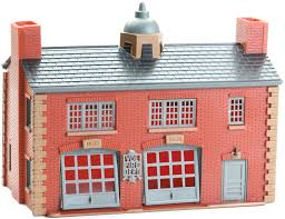 Lionel - K-Line - Firehouse Kit - O Scale (6-21386) - the-pennsy-station-llc