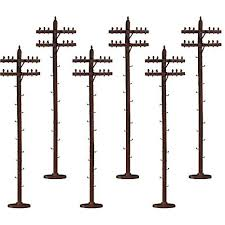 Lionel - Scale Telephone Poles - O Scale (6-37851) - the-pennsy-station-llc