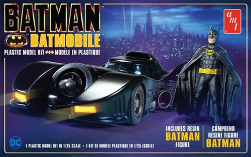 AMT - Batman 1989 Batmobile w/ Resin Figure - Plastic Model Kit (1107) - the-pennsy-station-llc
