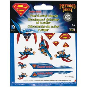 Revell - Pinewood Derby - Superman Peel & Stick Decals (RMXY9406) - the-pennsy-station-llc