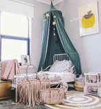Baby Bed Canopy Kids Crib Netting Palace Style Children Room Curtain Dome Mosquito Net Cotton Baby Girls Mantle Nets Tent