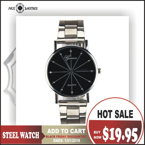 PZ Contractedted Steel Watch for Men