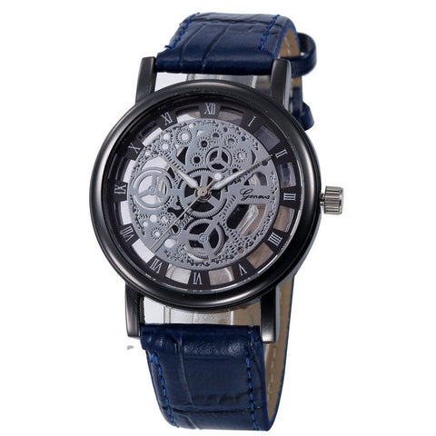 Pazi-Watches | PZ Black Machinery Skeleton Watch