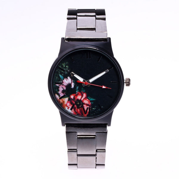 Picture Design Alloy Band Analog Alloy Quartz Wrist Watch