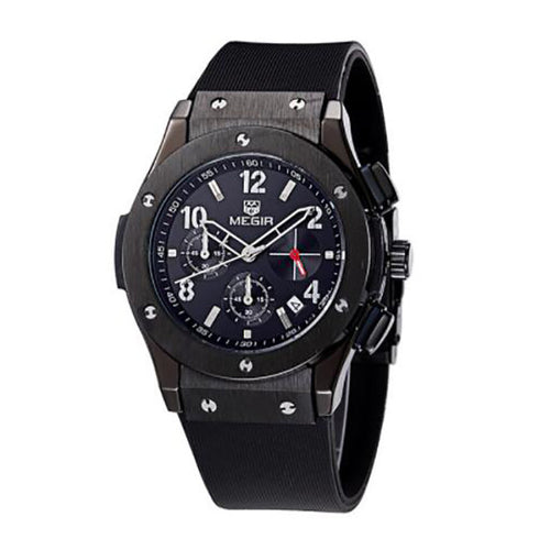 Pazi-Watches | PZ Black Casual Sports Watch (Perfect Gift for Men)