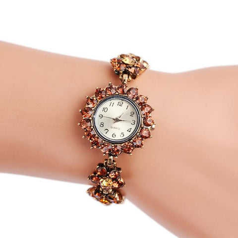 Fashion Women's Retro Metal Bracelet Wrist Watch