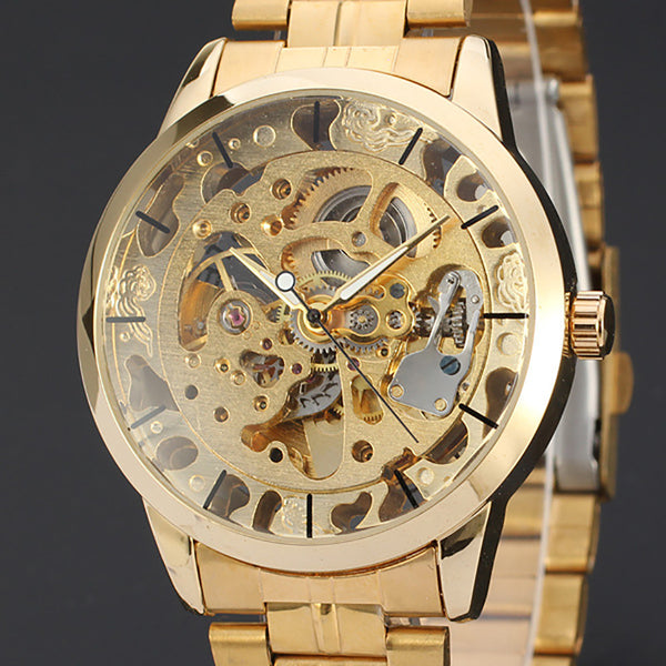 PZ Premium Gold Hollow Skeleton Watch