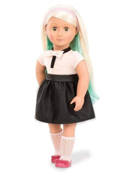 Amya Our Generation Deluxe Chalk Hair Doll | Our Generation Doll - 062243307889