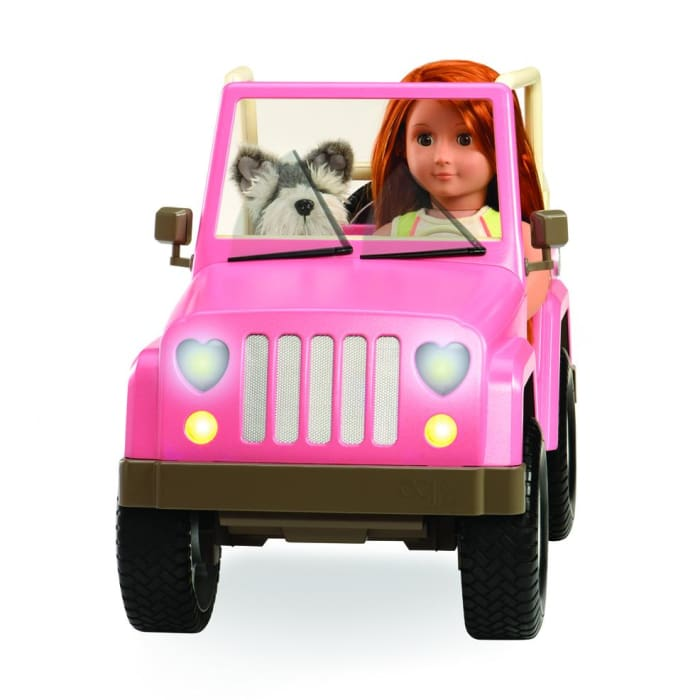Jeep Our Generation Off Roader Pink Jeep | Our Generation Accessory - 062243314351