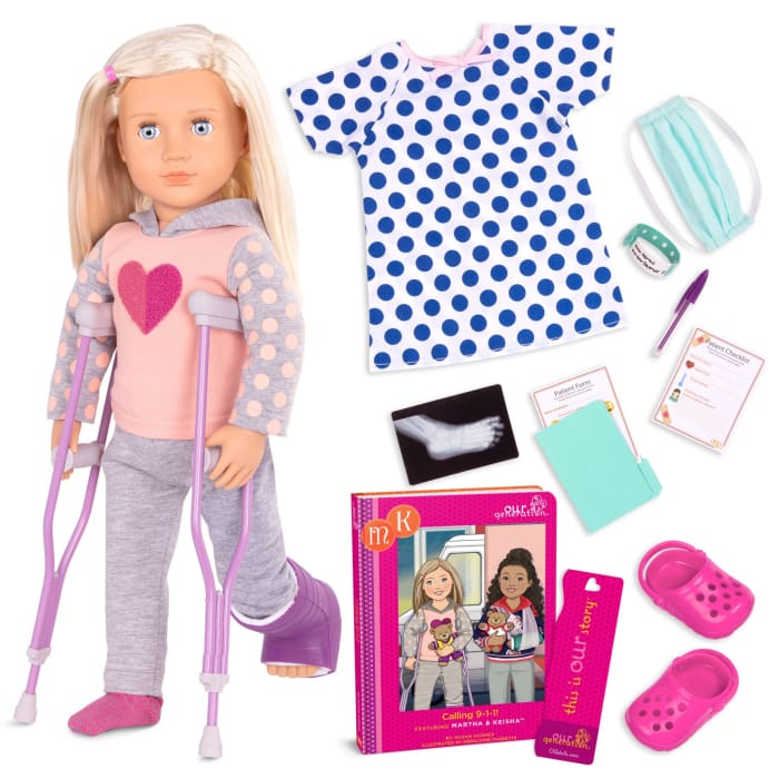 Martha & Calling 9-1-1 Deluxe Our Generation Doll | Our Generation Doll - 062243430310