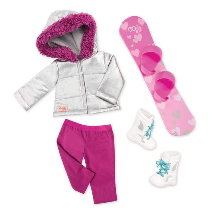 Chill on the Hill Deluxe Winter Sports Outfit | Our Generation Clothes - 062243344860