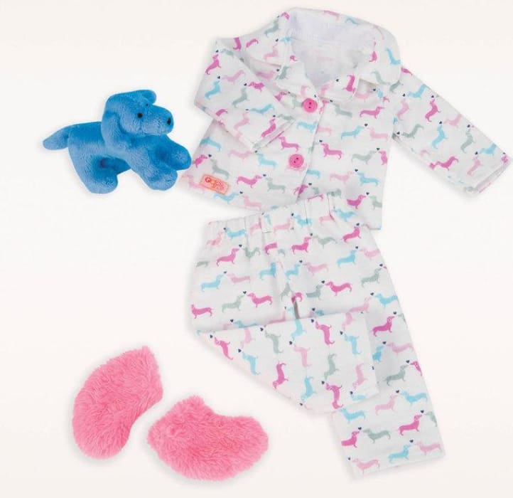 Our Generation Counting Puppies Pyjama Regular Outfit | Our Generation Clothes - 062243306950