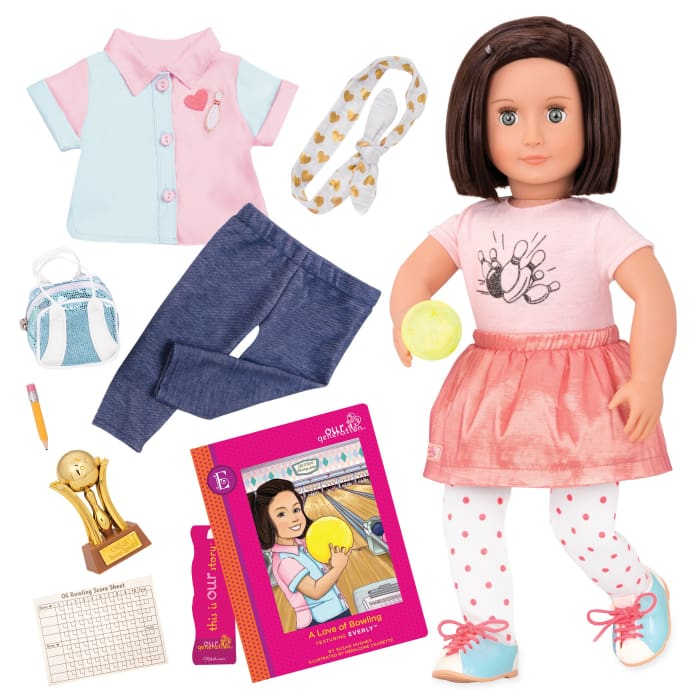 Our Generation Everly: A Love Of Bowling OG Deluxe Doll | Our Generation Doll - 062243403666