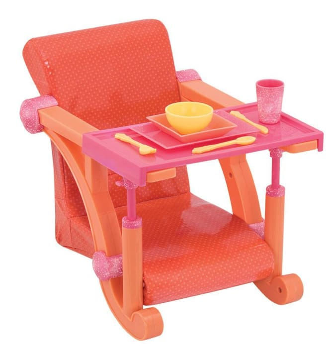 Our Generation Orange Spots Lets Hang clip-on Chair | Our Generation Accessory - 062243333994