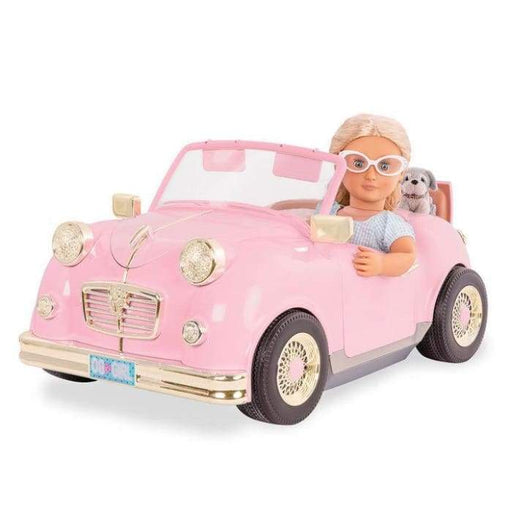 Retro Pink Car For 18 OG Dolls Vehicle | Our Generation Accessory - 062243326439