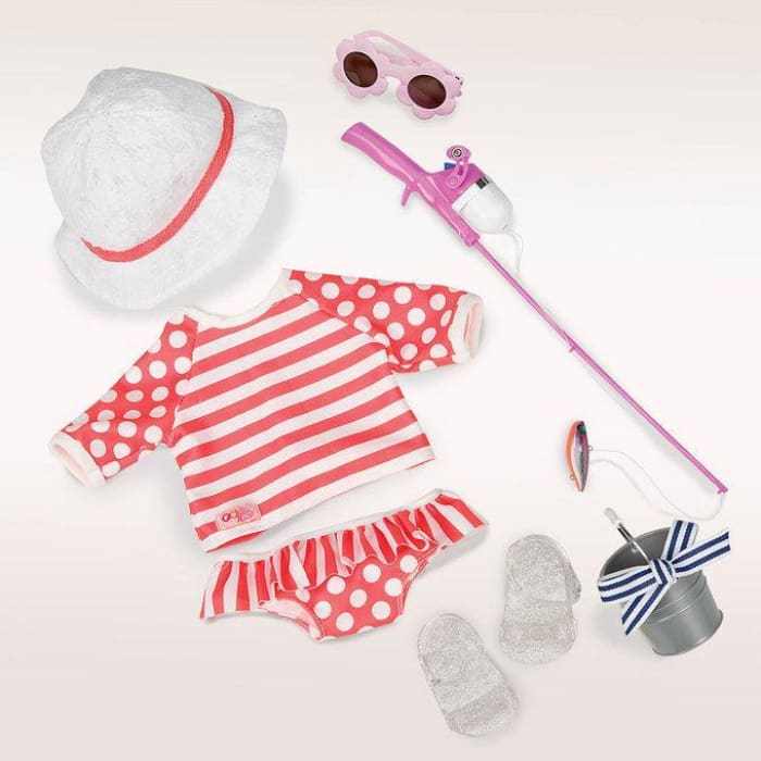 Our Generation The Reel Deal Deluxe Swim Outfit | Our Generation Clothes - 62243288423