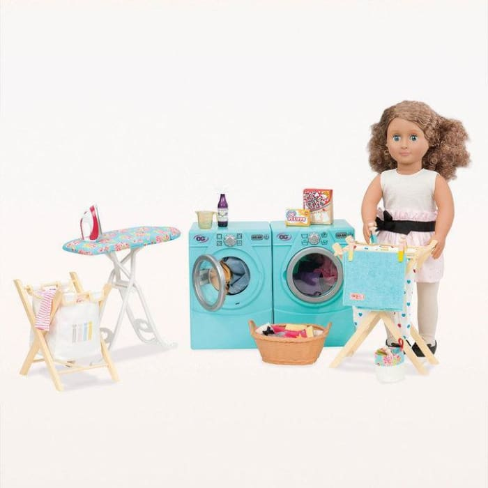 Our Generation Tumble & Spin Laundry Set | Our Generation Accessory - 062243307773