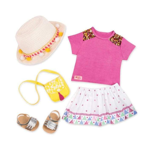 Vacation Style Deluxe Outfit | Our Generation Clothes - 062243346123