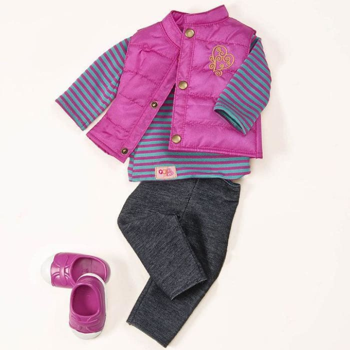 Our Generation Vest Friends Forever Regular Outfit | Our Generation Clothes - 62243263703