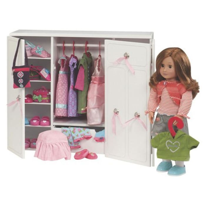 Our Generation Wooden Wardrobe Set