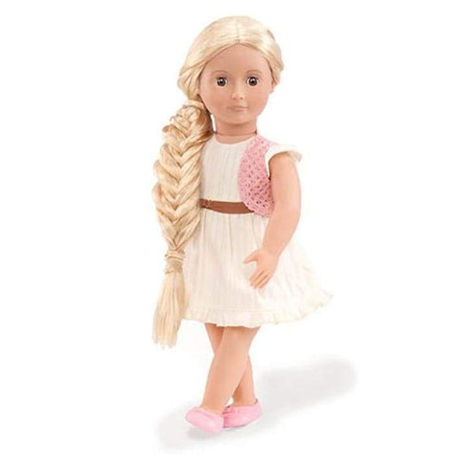 Phoebe Pink Crochet hair to there Our Generation Hair Play Doll | Our Generation Doll - 062243263628
