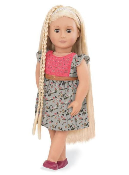 Phoebe Our Generation Hair Play Doll (Floral Dress) | Our Generation Doll - 62243307056