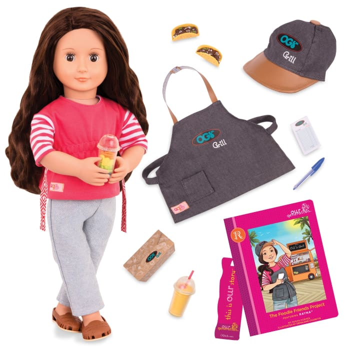 Rayna: The Foodie Friends Project Deluxe Our Generation Doll | Our Generation Doll - 062243352216