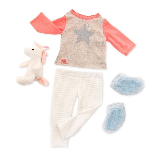 Unicorn Wishes Our Generation Pyjamas Regular Outfit | Our Generation Clothes - 062243349377