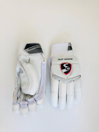 SG Test White Cricket Batting Gloves - DKP Cricket Online