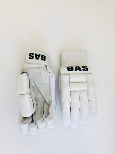 BAS White Pro Edition Cricket Batting Gloves - DKP Cricket Online