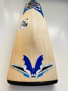 BAS Pro Blue Cricket Bat | Knocked in ready to Play | Half Price - DKP Cricket Online